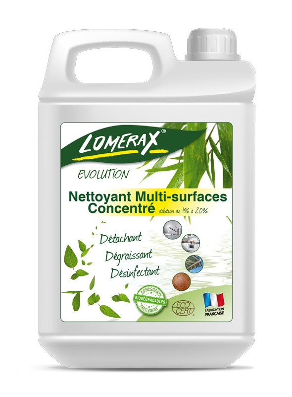Lomerax Evolution Nettoyant desinfectant Concentre ECOCERT